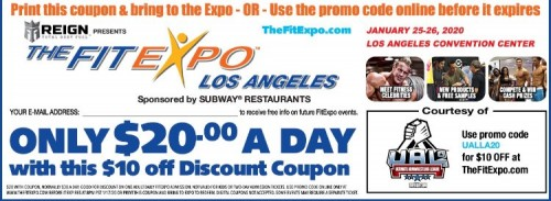 2020 LA fit expo discount