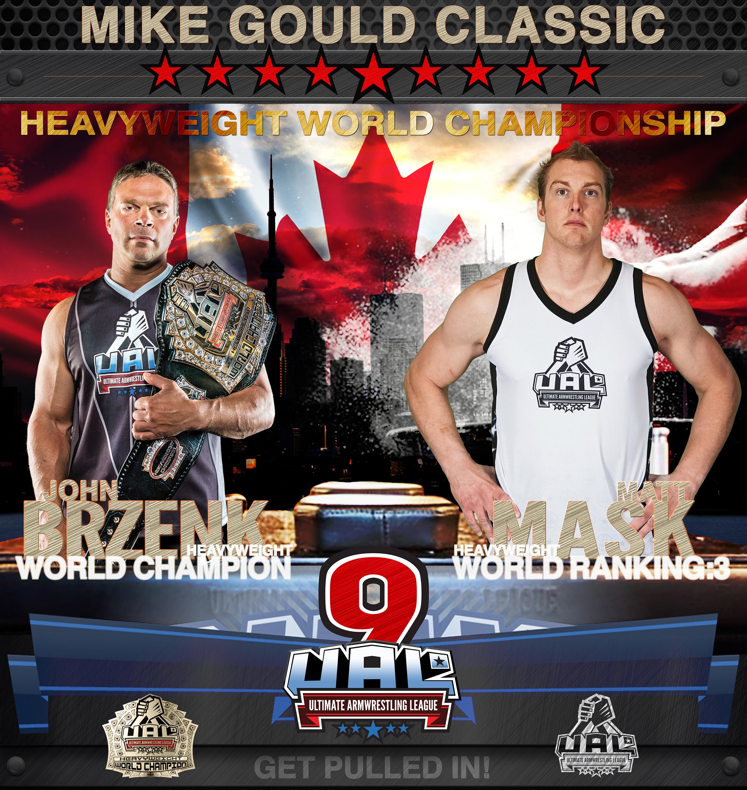 John Brzenk vs. Matt Mask, UAL 9 - 2015 MIKE GOULD CLASSIC │ Image Source: theual.com